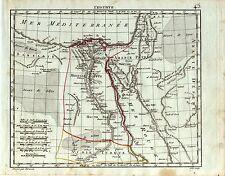mappa Egitto Egypt Mar Rosso  Herisson 1809