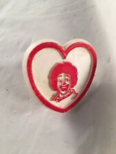 Vintage Ronald McDonald Promotional Red White Heart Shaped Children's Kid's Ring