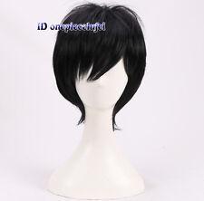 Durarara Izaya Orihara Cosplay Costume Short Black Wig +a wig cap