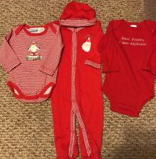 Christmas Infant Outfit 4 Piece Set Baby Size 0-3 Months New