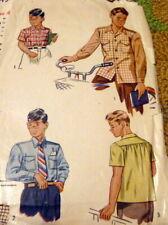*LOVELY VTG 1940S BOYS SHIRT Sewing Pattern 6