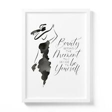 Beauty Coco Chanel Zitat - Poster ungerahmt DIN A3 - Bild Deko Motiv Spruch