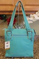 NWT Fossil Turquoise Pebbled Leather Solano Tote Bag #ZB9131 (pu220