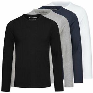 Herren Shirt Herrenshirt Langarmshirt Longsleeve Rundhals Jack & Jones Basic
