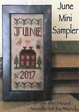 JUNE MINI SAMPLER-CROSS STITCH CHART- FROM THE HEART