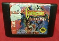 Castlevania Bloodlines - Sega Genesis Rare Game Tested Works Authentic Original