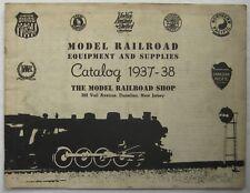 1937-1938 Model Railroad Equipment & Supplies Railroaders Catalog w/Corrections