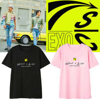 KPOP EXO What a Life Album T-shirt Korea Style Loose Shirts Chanyeol Beakhyun