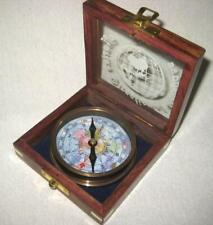 Compass - Alto Brass - Tarnish Resistant IN Decorative Wooden Box With Frypan