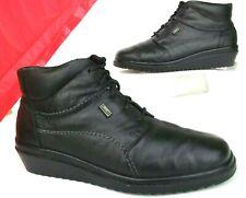 Rieker Eike Black Sheep Wool Leather Flat Ankle Boots Sz 5.5 8.5   eBay