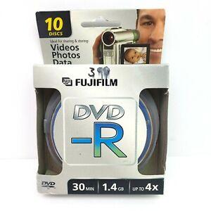 Fujifilm DVD-R 30 Min 1.4GB Up To 4x Camcorders Mini DVD 10 Discs Pack