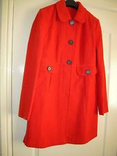 Button Knee Length Wool Unbranded Coats & Jackets for Women