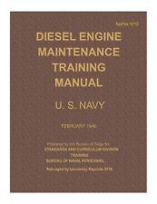 Diesel Engine Maintenance Training Manual for U.S. Navy (Hardcover, Feb. 1946)