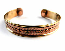*BEAUTIFUL 2 TONE CELTIC PATTERN COPPER MAGNETIC BRACELET / BANGLE**6**
