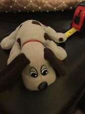 "Pound Puppies Newborn Lt. Gray with Brown Ears Puppy 7""L Mini Plush"
