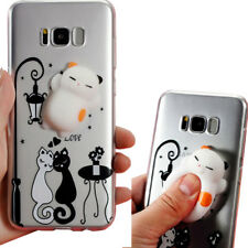 Custodia 3D SQUISHY Cat in Love per Samsung Galaxy S8+ Plus G955F cover case TPU