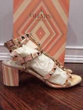 NIB Valentino Rockstud Native Couture Orange T Strap Block Heel Pump 39 $1295