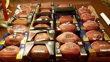 NFL Super Bowl Football Collection 23 Balls Leather The Duke On Field RARE LOT