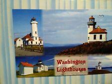 new photo post card 4 SCENES WASHINGTON  LIGHTHOUSES