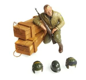 1:16 Scale Torro U.S. Sergeant B. Green Tank Crew Figure WWII RC Tank