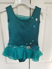 Baton Twirling Costume - Teal approx size 5/6