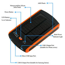 6000mAh Dual USB Solar Panel Power Bank External Battery Charger for Cell Phone