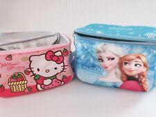 Girl School Hello Kitty or Frozen Lunch Box Organizer Insulated lunchbox Bag