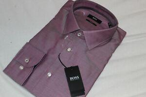 Hugo Boss Men's 100% Cotton Jesse Pink Slim Fit Dress Shirt NWT $138 Size 16
