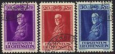 Liechtenstein 1933 PRINCE FRANCIS 80esimo Compleanno Set SG 124-6 USATO