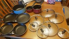 pots and pans set 14 pieces! USED.