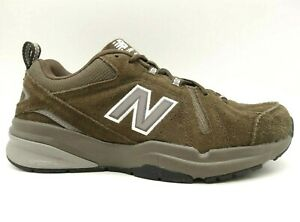 New Balance 608 Brown Leather Athletic Walking Sneakers Shoes Men's 7 EE
