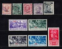 Caso stamps, mint & used with full Ferrucci set, SCV $45.40