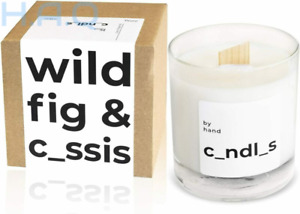 by hand Scented Soy Candle – Premium Wooden Wick Crackling Wild Fig & Cassis