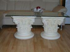 Barock Antik Tisch Glastisch Couchtisch Steinmöbel Wohnzimmertisch 125cmx50cm