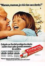 PUBLICITE ADVERTISING  1973   COLGATE   dentifrice 2