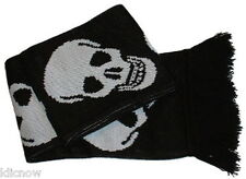 """Skull Scarf 5ft (Made in the U.K By Mrs Barrett) 100% Acrylic  6"""" wide approx"""