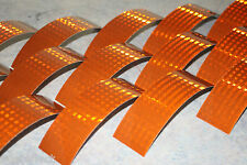 T-6509 BROWN Reflective Tape - Reflective Strips - HiVis Tape - 20cm Strips