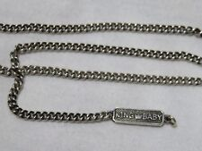 """King Baby Studio Men's Sterling Silver 24"""" Curb Chain Necklace"""