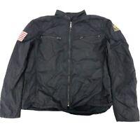 "Ralph Lauren Men""s Size XXL Military Black Jacket Denim & Supply Patches"