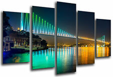 Cuadro Moderno Fotografico Puente Noche Estambul, 165 x 62 cm ref. 26323