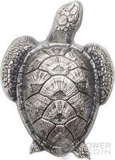 SEA TURTLE Shaped Silver Coin 10$ Palau 2017