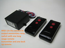 MSD 12V DC dry contact momentary relay switch with 2 long range remote RP11P2