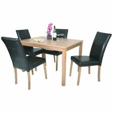 Up to 4 Seats Oak Dining Tables Sets with Flat Pack