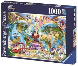 Ravensburger - 1000pc Disney's World Map Jigsaw Puzzle 15785-3
