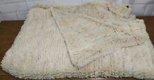 """Effets Personnels Paris authentic Rabbit Fur off white Blanket 55"""" x 80"""""""