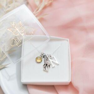Giraffe necklace, personalised gifts, animal gift, women's jewellery, birthstone
