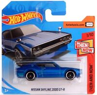 Nissan Skyline 2000 GT-R C110 Blue, Hot Wheels Then and Now 2018 Short Card #118