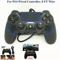 For PS4 PlayStation 4 Dualshock 4 PC MacUSB Wired Controller Gamepad 8 FT Wired