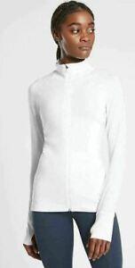 ATHLETA  Pacifica Illume Full Zip jacket White L Tall LT NWT #657418 Swim  Sun