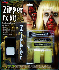 Face Ziper Makeup Make Up Kit Horror Zombie Halloween Fancy Dress Face Paint Set
